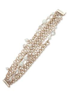 Ralph Lauren Faux Pearl Multi-Row Bracelet