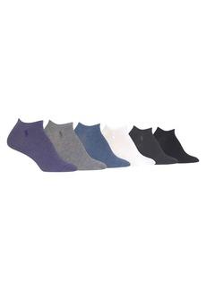 Ralph Lauren Flat Knit Ultra Low Cut Pack of Six Socks