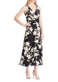 Lauren Ralph Lauren Floral Surplice Midi Dress