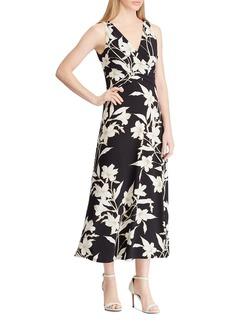 Lauren Ralph Lauren Floral Surplice Midi Dress