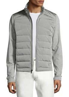 Ralph Lauren French Terry Full Hybrid Jacket  Light Gray