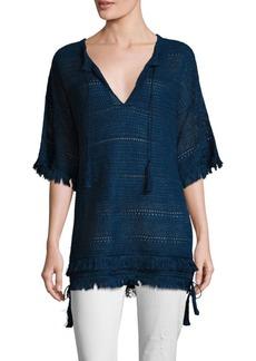 Ralph Lauren Fringed Linen Tunic