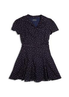 Ralph Lauren Girl's Belted Shirtdress