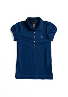 Ralph Lauren Girl's Stretch Cotton Polo Shirt