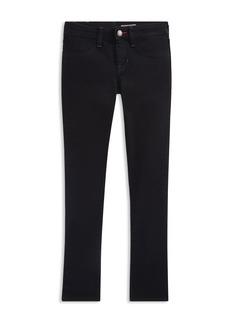 Ralph Lauren Girls' Denim Tuxedo Pants - Little Kid