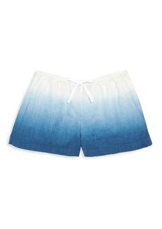Ralph Lauren Girl's Dip-Dye Linen Shorts