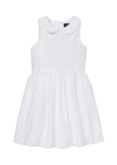 Ralph Lauren Girls' Floral Embroidered Dress - Little Kid