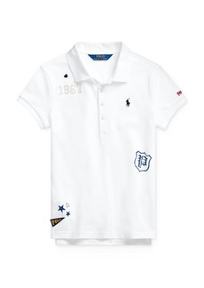 Ralph Lauren Girls' Graphic Polo Shirt - Big Kid