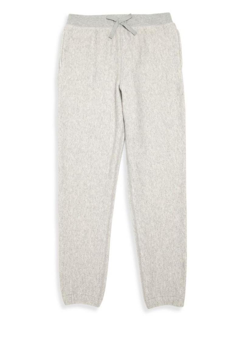 Ralph Lauren Girl's Herringbone Textured Jogger Pants
