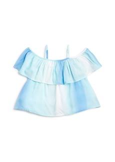 Ralph Lauren Girls' Ombr� Stripe Off-the-Shoulder Top - Little Kid