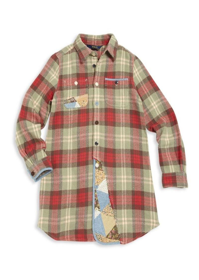 Ralph Lauren Girl's Patchwork Plaid Shirtdress