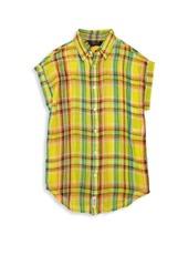 Ralph Lauren Girl's Plaid Cotton Shirt