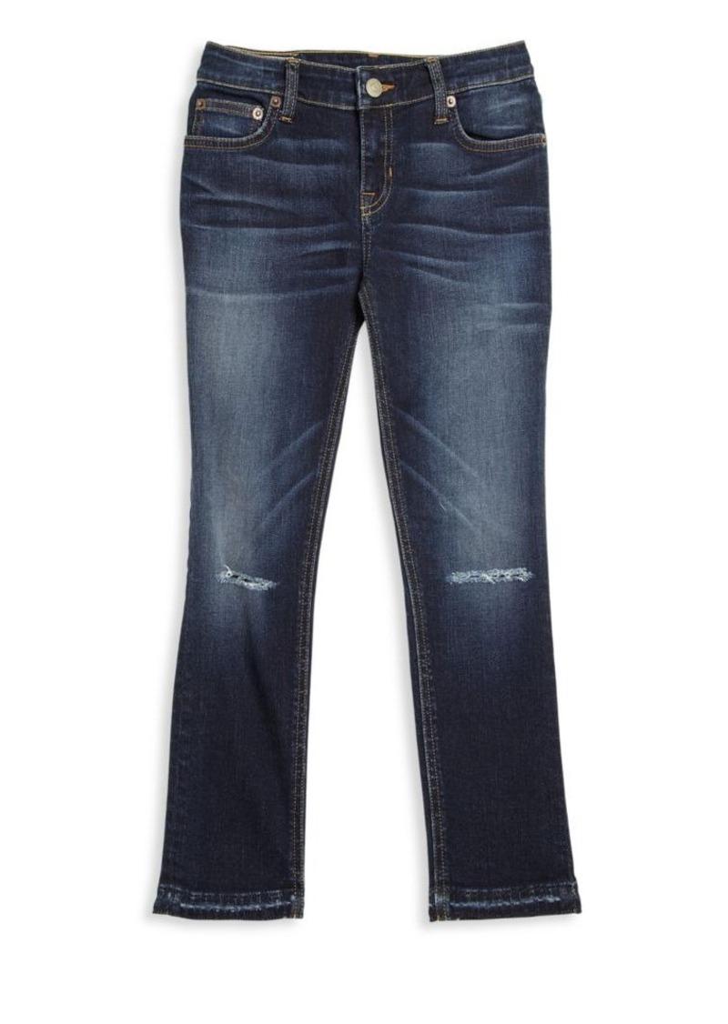 Ralph Lauren Girl's Super-Skinny Distressed Jeans
