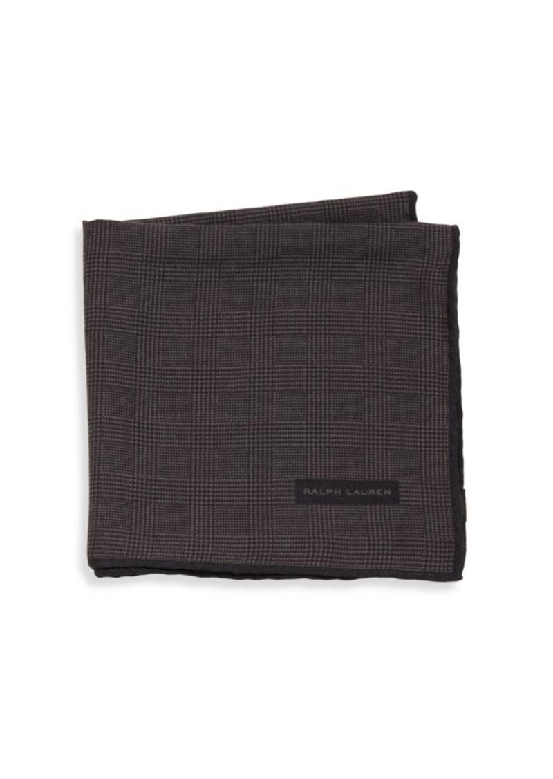 Ralph Lauren Glen Plaid Wool & Silk Pocket Square