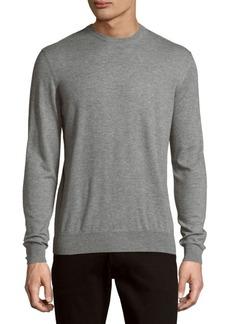 Ralph Lauren Purple Label Heathered Pullover Cashmere Sweater