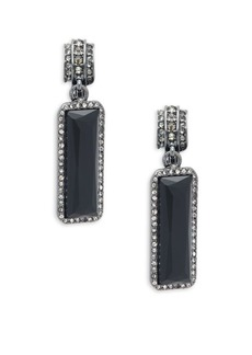 Ralph Lauren Hematite-plated and Crystal Drop Earrings