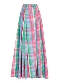 Ralph Lauren Kimberley Plaid Cotton and Silk-Blend Maxi Skirt