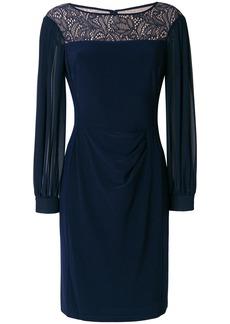Ralph Lauren lace panel detail dress - Blue