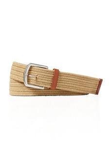 Ralph Lauren Leather Trimmed Braided Belt