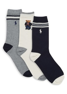 Ralph Lauren Little Boy's & Boy's Three-Pair St. James Striped Socks