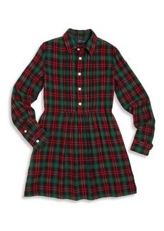 Ralph Lauren Toddler's, Little Girl's & Girl's Plaid Shirtdress