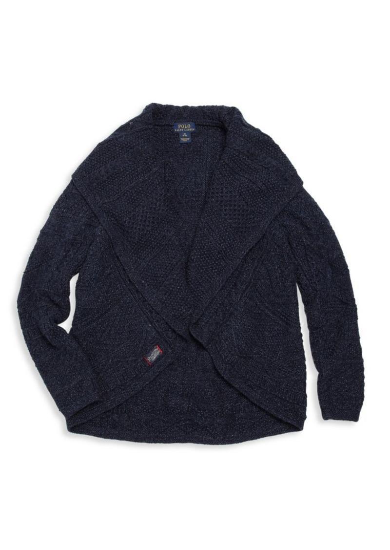 Ralph Lauren Little Girl's Cotton & Merino Wool Cardigan