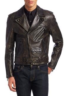 Ralph Lauren Locklear Leather Moto Jacket