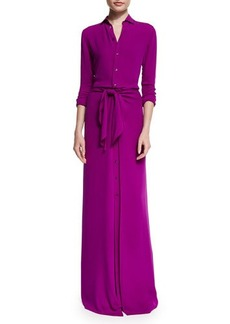 Ralph Lauren Collection Long-Sleeve Button-Front Shirt Gown