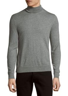 Ralph Lauren Purple Label Long-Sleeve Heathered Cashmere Sweater