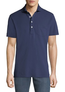 Ralph Lauren Men's 5-Button Polo Shirt with Pocket