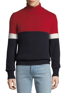 Ralph Lauren Men's Cashmere Colorblock Turtleneck Sweater