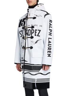 Ralph Lauren Men's Estevan Toggle-Front Typographic Coat