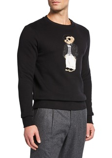 Ralph Lauren Men's Fashion Bear Crewneck Sweater