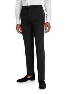 Ralph Lauren Men's Gregory Wool Barathea Tapered Tuxedo Pants