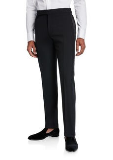 Ralph Lauren Men's Gregory Wool Barathea Tapered Tuxedo Pants