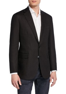 Ralph Lauren Men's Hadley 2-Button Linen Jacket  Black