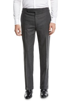 Ralph Lauren Men's Heathered Flannel Trouser Pants