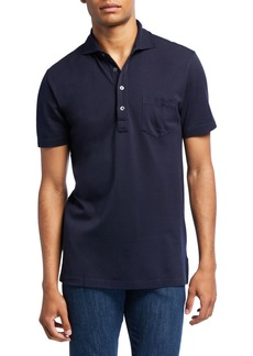 Ralph Lauren Purple Label Men's Jersey Pocket Polo Shirt  Navy