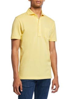 Ralph Lauren Purple Label Men's Jersey Pocket Polo Shirt  Yellow