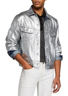 Ralph Lauren Men's Metallic Denim Trucker Jacket