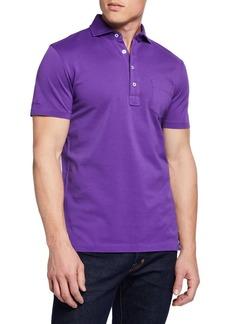 Ralph Lauren Men's Pique Pocket Polo Shirt  Violet