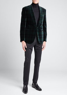 Ralph Lauren Men's Plaid Velvet Dinner Jacket