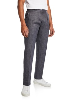 Ralph Lauren Men's Relaxed Drawstring Linen Trousers