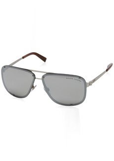 Ralph Lauren Men's RL7055 Aviator Metal Sunglasses  64 mm