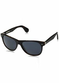 Ralph Lauren Men's RL8129P Square Sunglasses Top Black On Jerry Tortoise/Grey