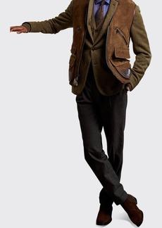 Ralph Lauren Men's Shearling Multi-Pocket Vest