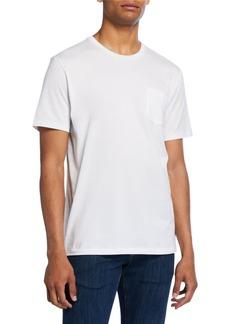 Ralph Lauren Purple Label Men's Washed Cotton Pocket T-Shirt  White