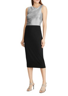 Lauren Ralph Lauren Metallic Color-Block Sheath Dress