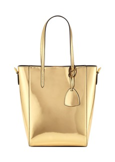 Ralph Lauren Metallic Patent Mini Modern Tote Bag