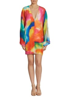 Ralph Lauren Nadia Splash-Print Silk Dress
